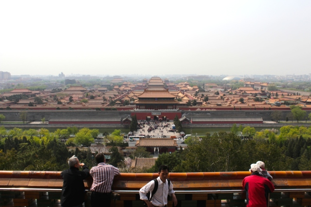 Panorama of the Forbidden City from Prospect Hill.