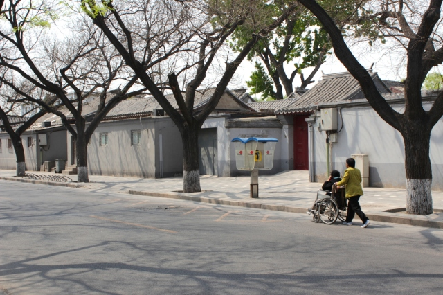 Tranquil, idyllic hutong neighborhood right beside the Forbidden City complex.