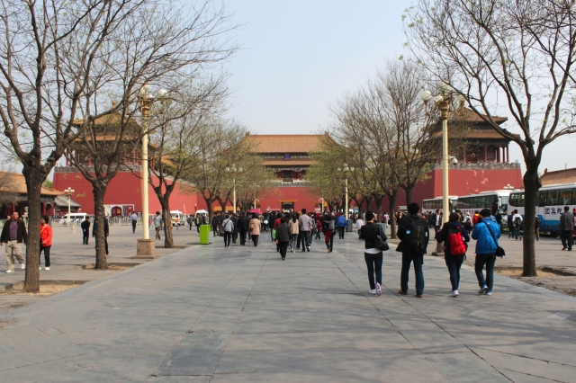 Approaching the Noon Gate 午門, which is the entrance to the Palace.