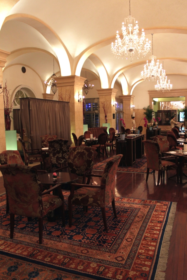 The Dining Room - where there is a very popular afternoon high tea.
