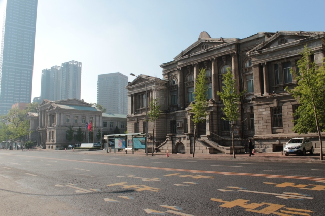 Former Government Offices in the Japanese Era, sitting just off Zhongshan Square.  Today it is the Department of Transport.