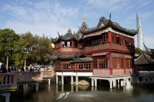 "The famous 湖心亭 (""hu xin ting""), or Pavilion on the Lake, which still functions as a teahouse today."