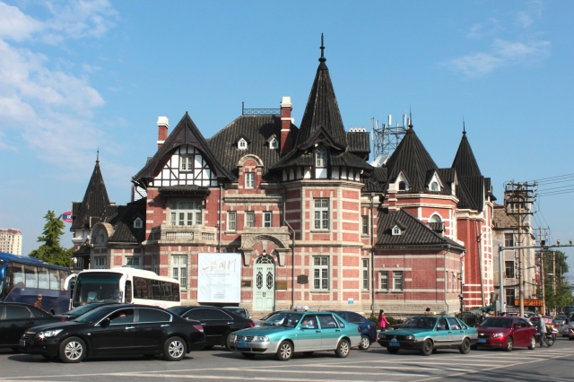 The former Dalny Library, like a surreal fairytale castle.