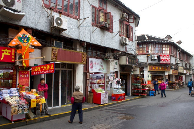 Real Old City streets just outside the Chen Xiang Ge.