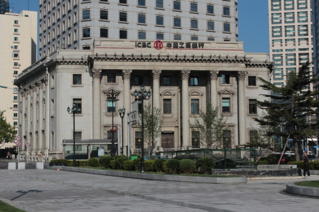No. 1 - The former Bank of Korea Dalian Branch 朝鮮銀行 was built in 1920.  Today it houses the Industrial and Commercial Bank of China.