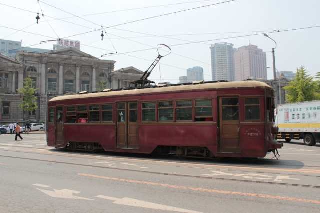 The Dairen tram started operations in 1909 and is still going today.  These cars date from the 1930s.