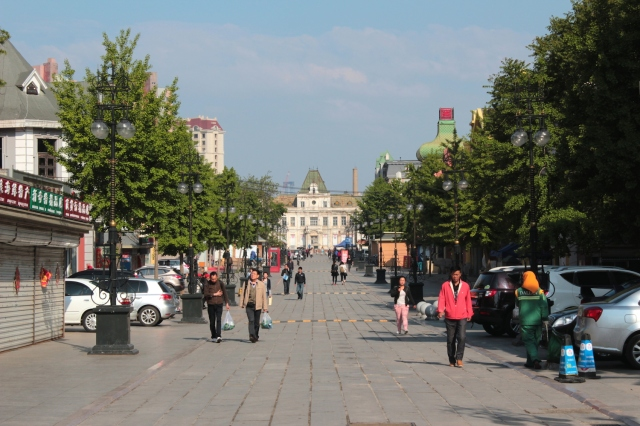 View down Russian Street towards Dalny City Hall.