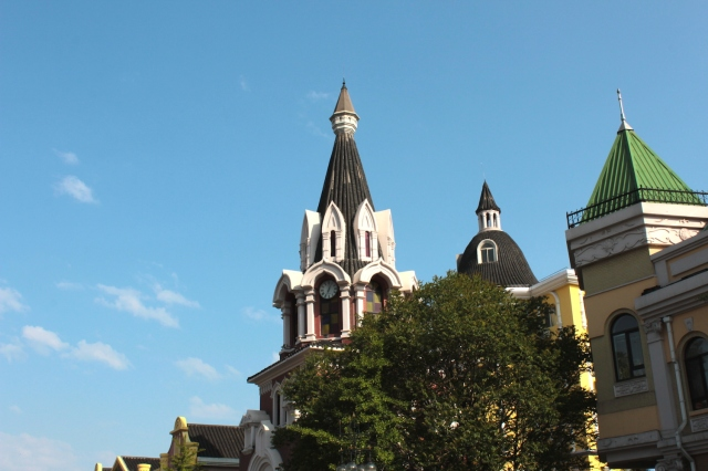 Spires on Russian Street.