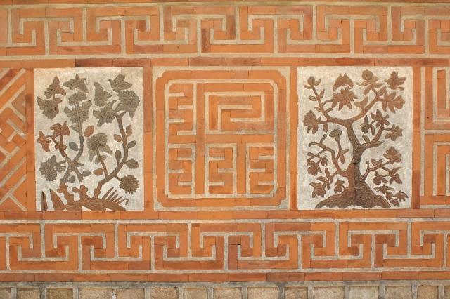 Unique brickwork in the Gyeongbokgung Palace.