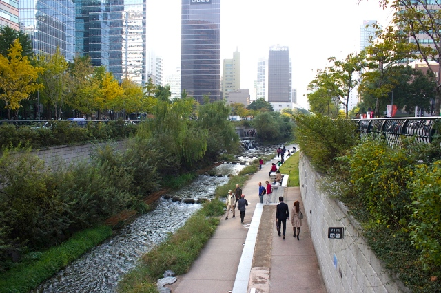 The Cheonggyecheon Stream is one of Seoul's most popular attractions today.