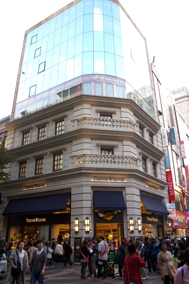 Colonial-era buildings in Myeongdong.