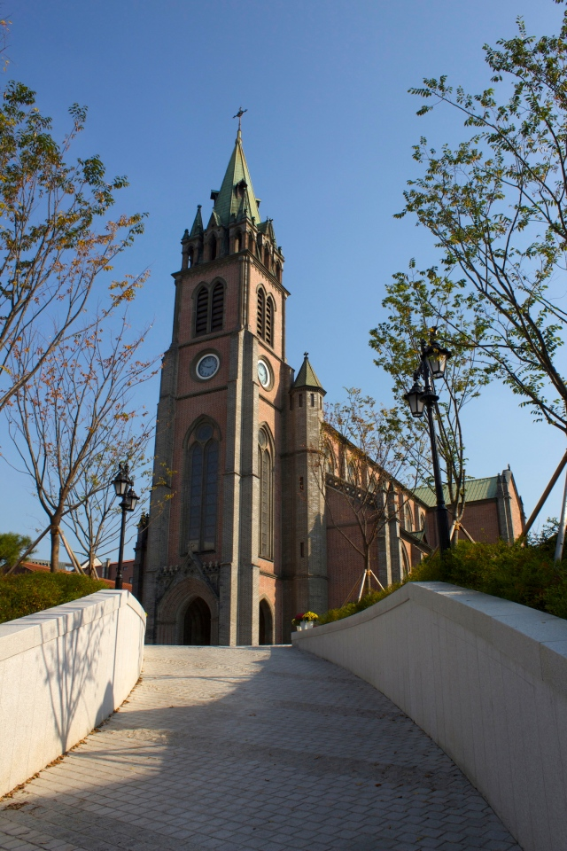 The Myeongdong Cathedral sits in the Myeongdong precinct.  But it dates from the Daehan Jeguk era, having been built in 1898.