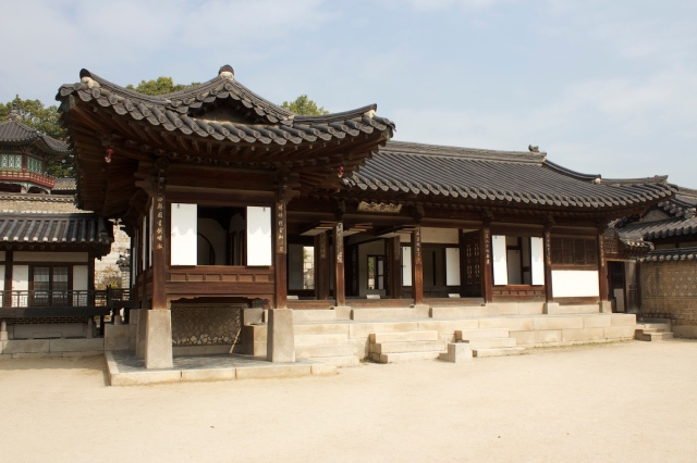 A sub-palace complex in Changdeokgung that betrays an older and simpler Korean architectural vernacular.