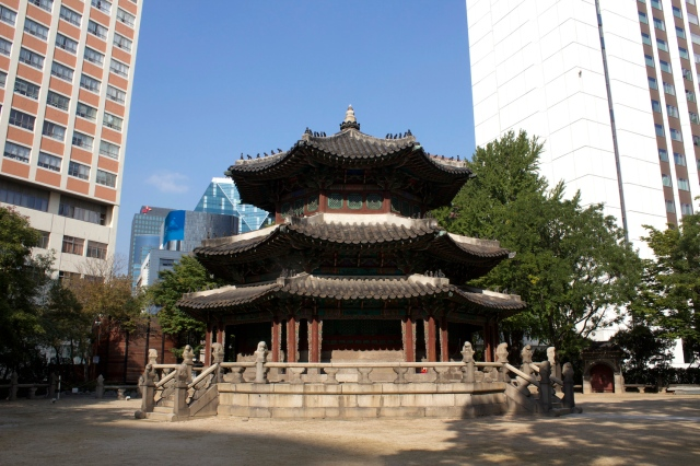 The Hwangungu Shrine is all that remains of the former Hwangudan Complex.
