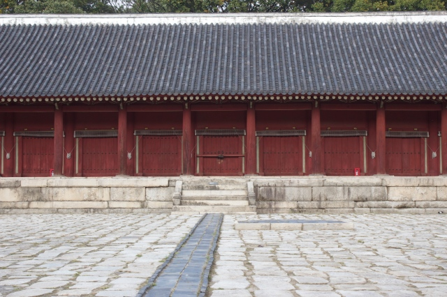 The main Shrine of the Jongmyo Shrine Complex