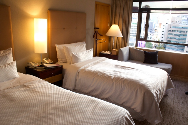 One of the guestrooms in the hotel