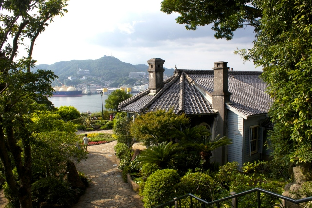 The Glover Residence (1863), overlooking the Port of Nagasaki.