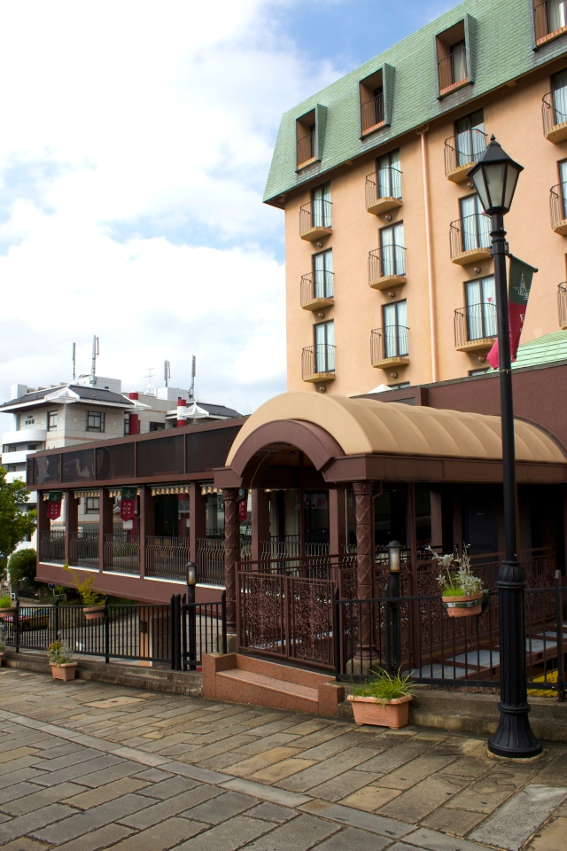 Exterior view of Pave, the hotel's French restaurant.