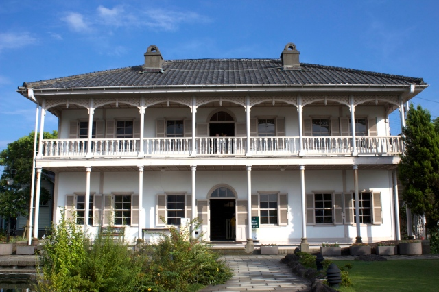 The Mitsubishi No. 2 Dock House (1896) is an example of Meiji-era Western style architecture.