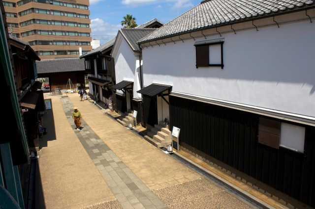 Reconstructed street.