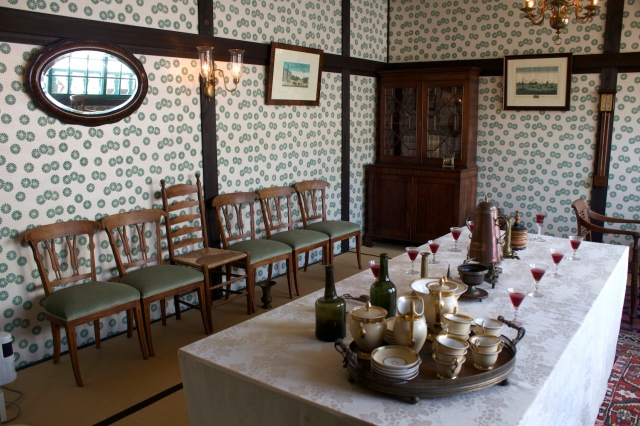 Reconstructed interior: dining room.
