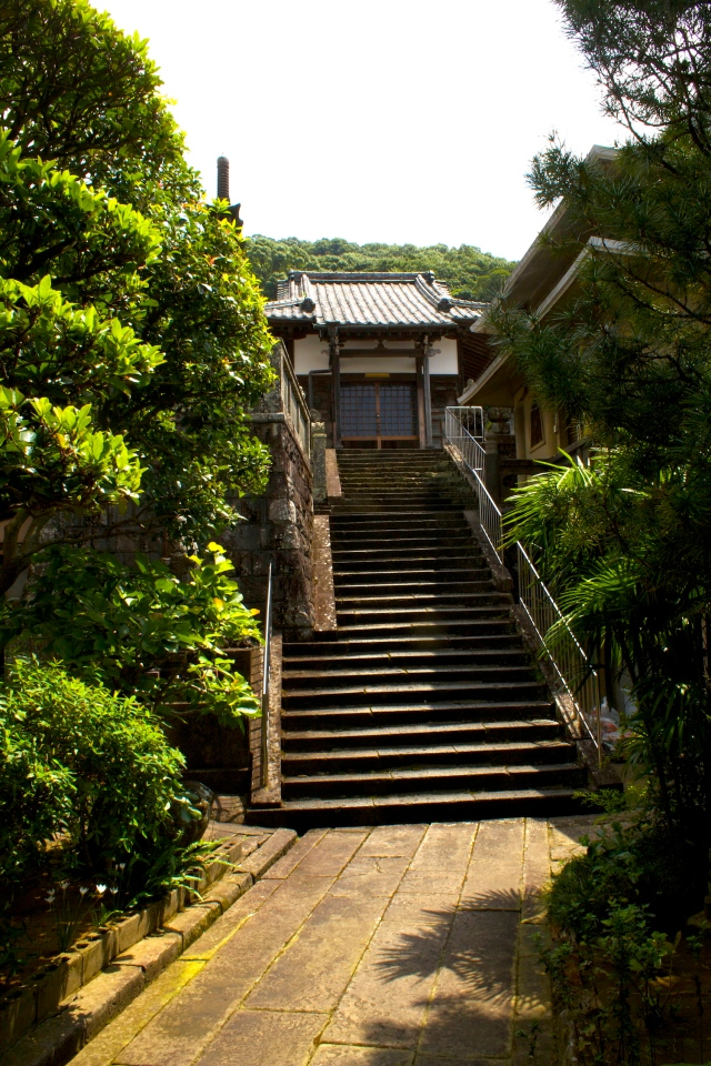 Stairs up to Joan-ji temple.