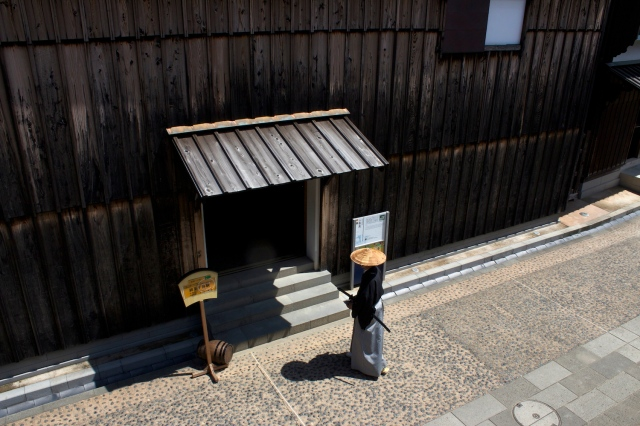 Reconstruction of Dejima, complete with latter-day Samurai.