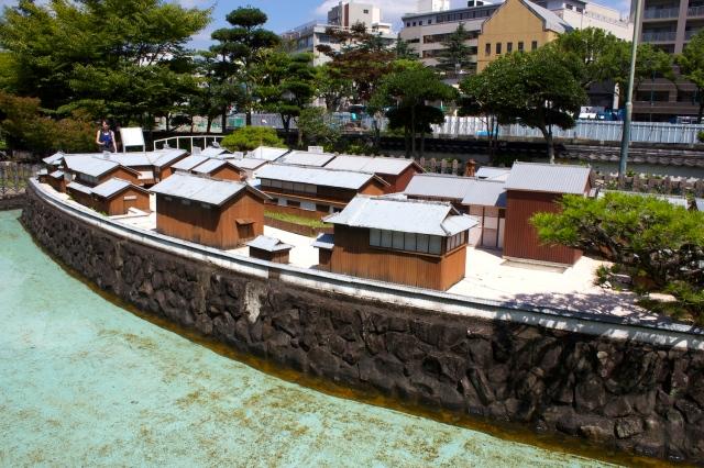 A model of Dejima island.