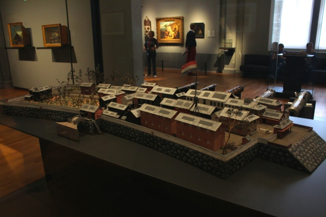 A model of Dejima under Dutch Rule, at the Rijksmuseum in Amsterdam.