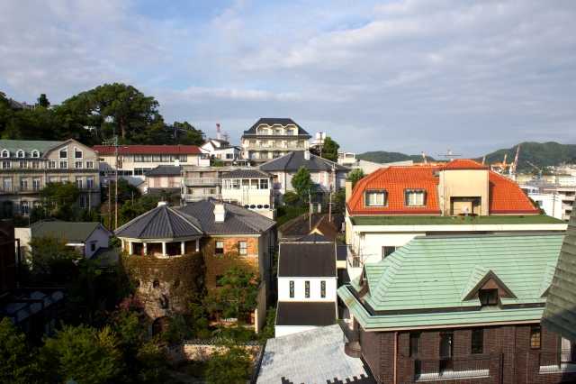 View of Gloverhill from the balcony of my room.
