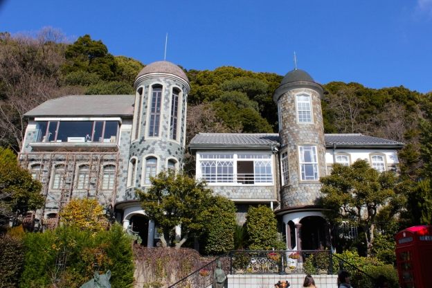 The Uroko House and Museum sits on one of the highest points of the Kitano District.