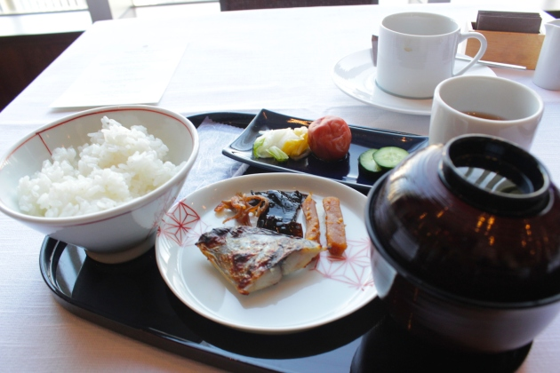 Breakfast at the Hotel's Restaurant.
