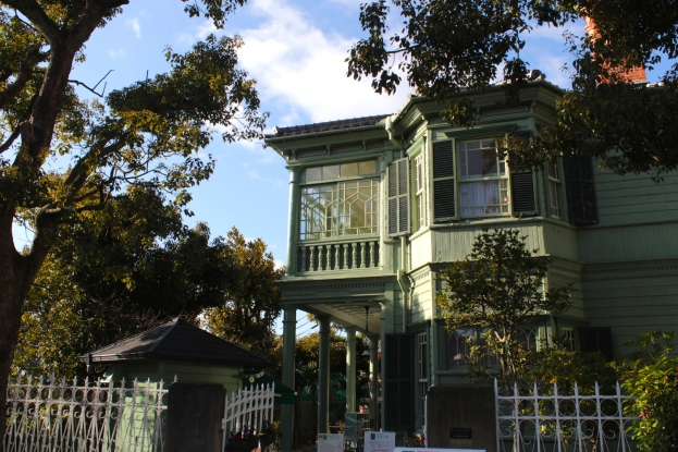 The Former Sharp House is right beside the Weathercock Mansion, and was built in 1903. It is called the Moegi House today.
