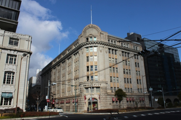 The third building on the Bund is the Shosen Mitsui Building 商船三井ビル.  The Shosen Mitsui is another major shipping company.