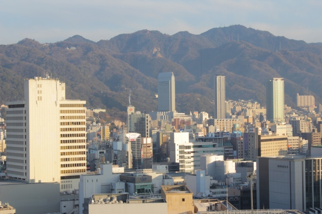 View of the Kobe Hills.