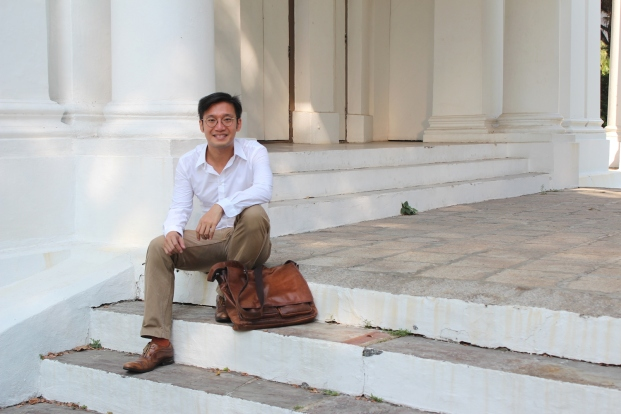 Here I am smiling away... This picture was published in a recent Business Times Singapore feature on my book and I. [Its the first and last photo I shall every upload of myself on this blo.]