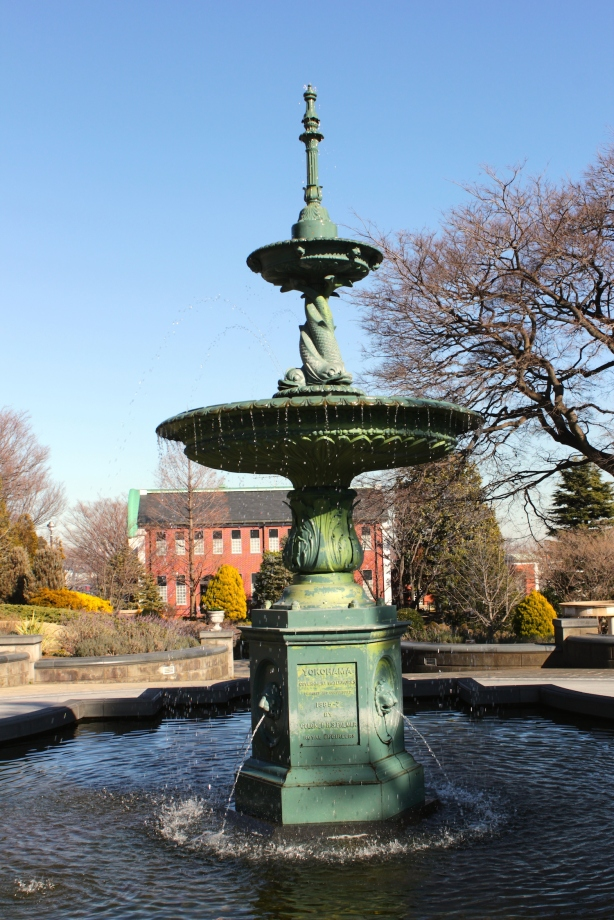 This public fountain was erected in 1887.