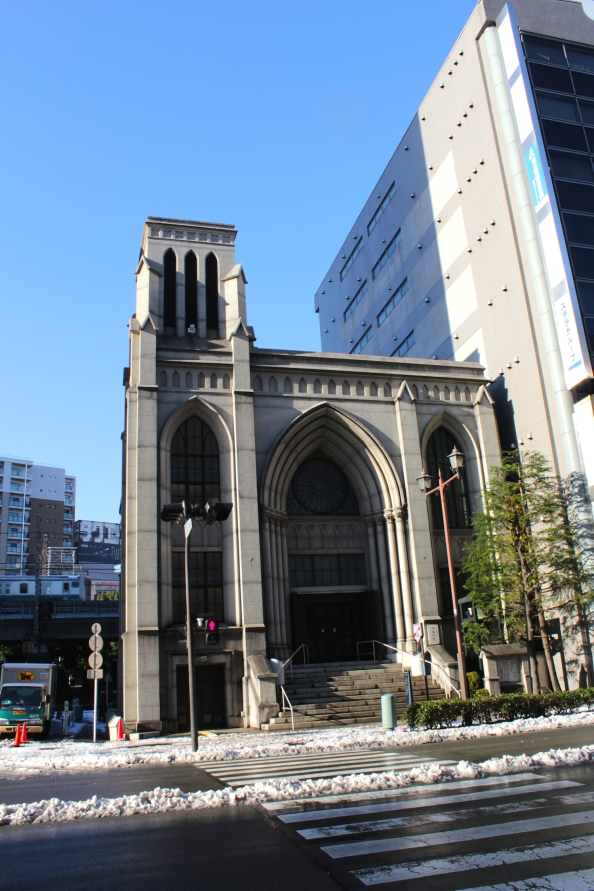 Yokohama Shiloh Church, at the other end of Bashamichi.