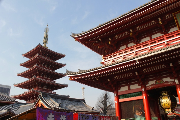 Sensoji 浅草寺, at Asakusa.