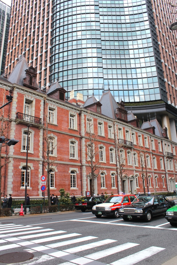Old and new in Tokyo - the Mitsubishi Ichogokan 三菱一号館 Museum is a faithful reconstruction of the original building, erected in 1894.