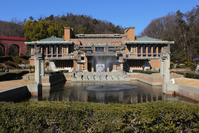 The Lobby and Entrance Complex of Frank Lloyd Wright's Imperial Hotel, at the Meiji Mura Museum.