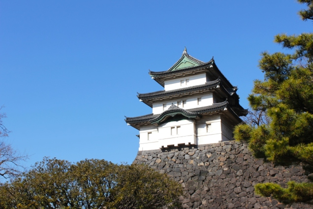 "The iconic Fuji-mi Yagura 富士見櫓, or ""Mt Fuji View Watchtower"" is one of three keeps in the inner palace that dates from the Edo era, having been built in 1659."