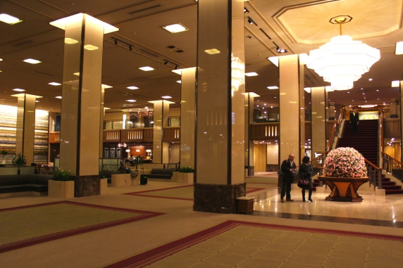 Lobby of the Imperial Hotel.