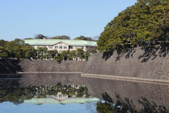 Outer moat with a view of the Imperial Household Agency.