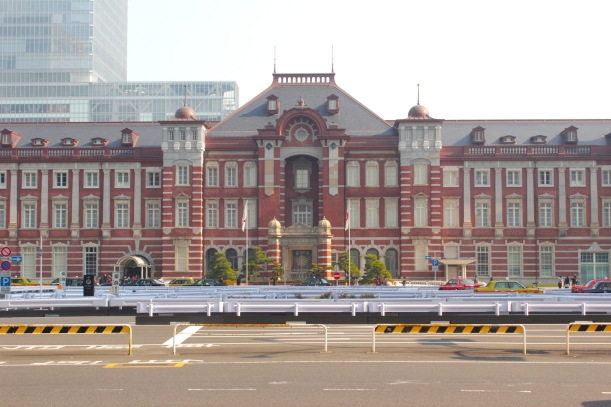 The Tokyo Station in the daytime.