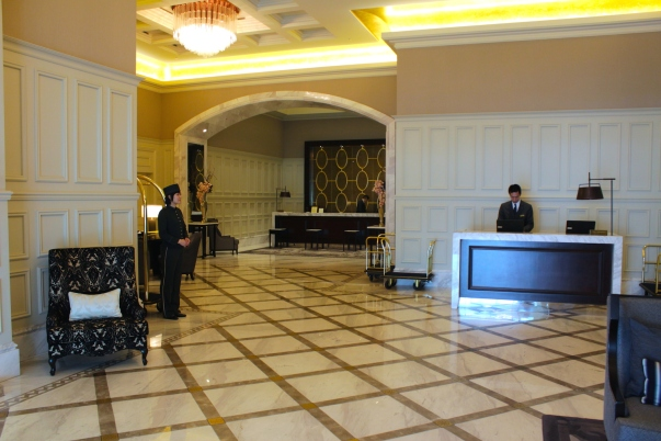 The Hotel Reception.
