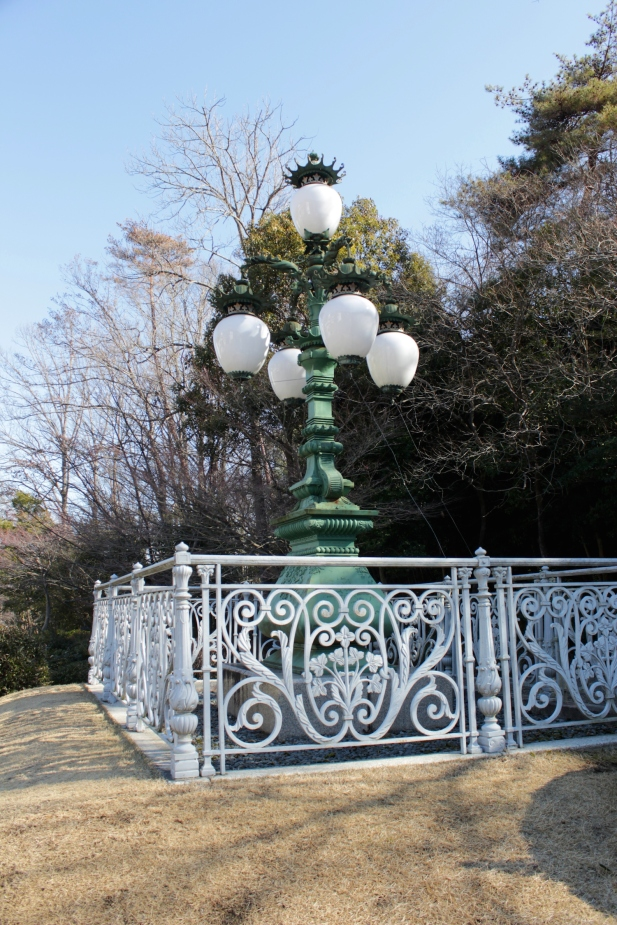 Lamp and Railing from Nijubashi Bridge, Imperial Palace, Tokyo 1880.