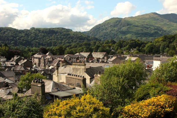 The town of Ambleside, to the north of Lake Windermere.