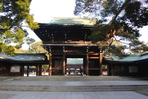 Entering the shrine...
