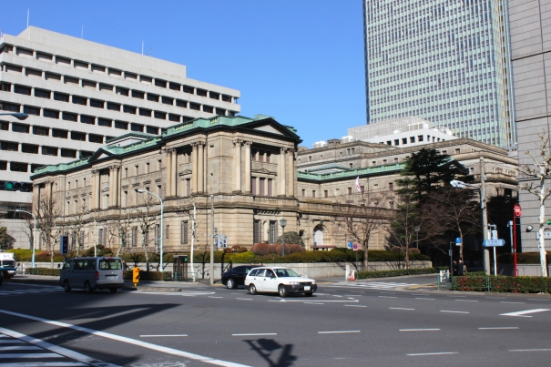 The Bank of Japan Building is a classic example of Meiji-era architecture, having been built in 1896.